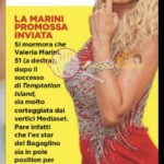 Valeria Marini inviata isola dei famosi