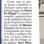 Temptation Island Vip presentatrice