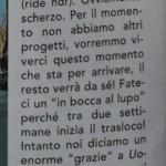 Paolo Crivellin e Angela Caloisi risposta