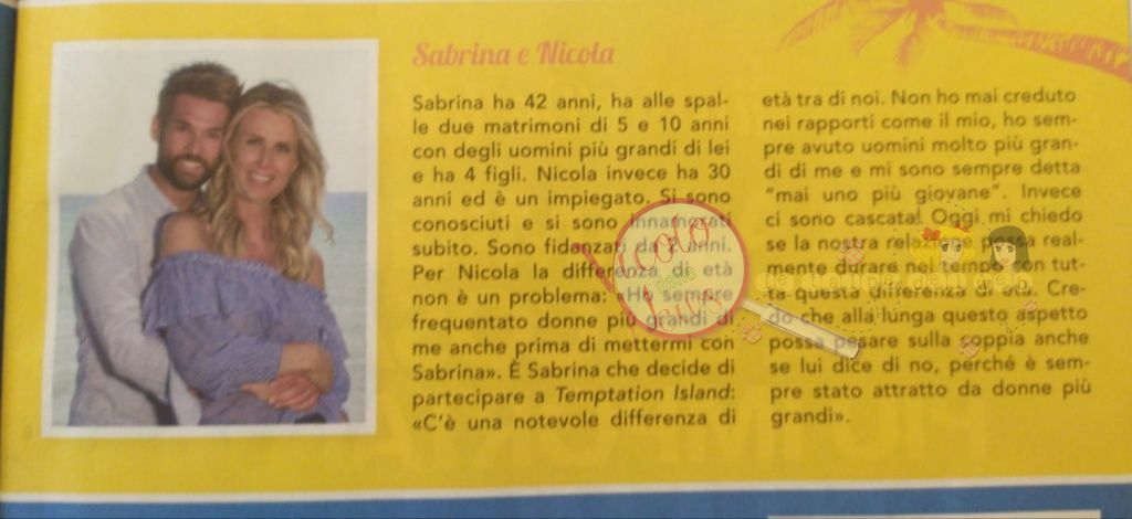 Sabrina e Nicola Temptation Island