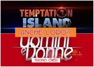 coppia Temptation Island trono over