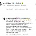 Arianna cirrincione contro Tony effe