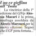 Alessia Magari all isola dei famosi