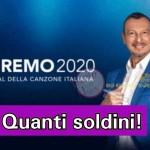 Amadeus Sanremo 2020 soldi