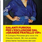 Claudia Galanti all'isola