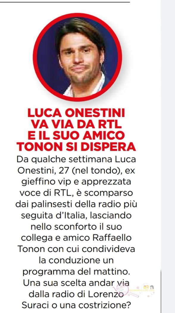Luca Onestini e Raffaello Tonon radio