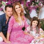 Adriana volpe foto posata famiglia