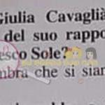 claudia Dionigi risposta su Giulia cavaglia