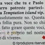 tempatation island paolo e clizia