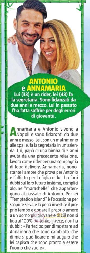 Antonio e Annamaria Temptation Island