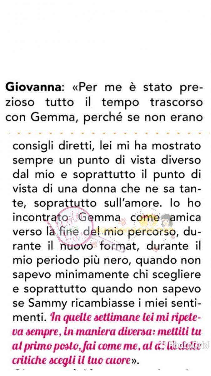 Giovanna risposta su Gemma