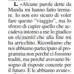 Lorenzo risposta