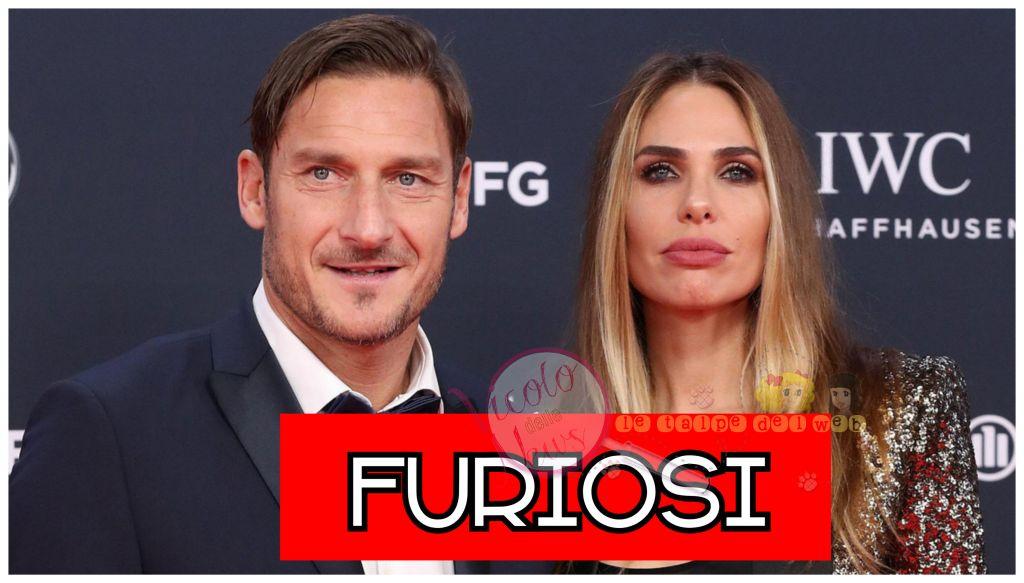 francesco Totti e Ilary blasi furiosi