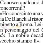 Tommaso Zorzi su Patrizia de blanck