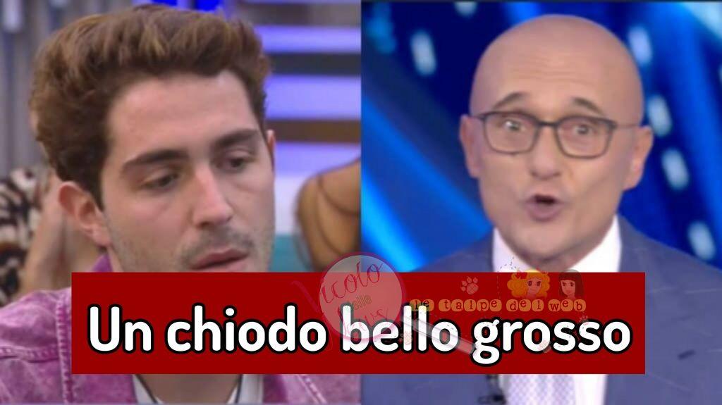 Alfonso Signorini e Tommaso Zorzi gfvip