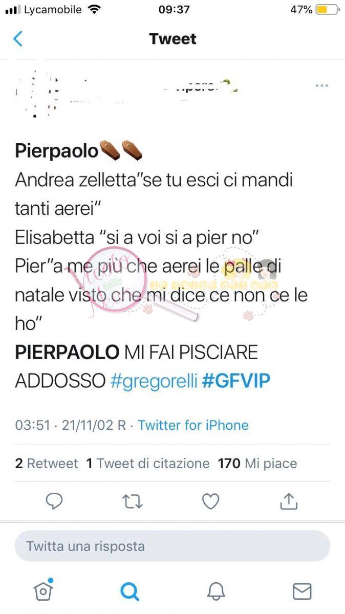 Pierpaolo commento gfvip